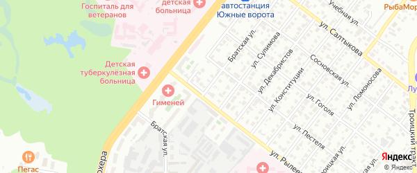 Братская улица на карте Челябинска с номерами домов