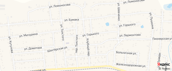 Клубный переулок на карте Коркино с номерами домов