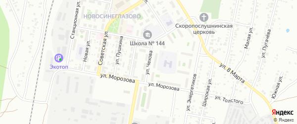 Улица Чехова на карте Челябинска с номерами домов