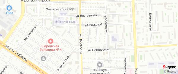 Кислородная улица на карте Челябинска с номерами домов