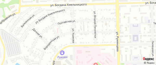 Бородинская улица на карте Челябинска с номерами домов
