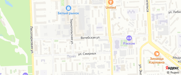 Витебская улица на карте Челябинска с номерами домов