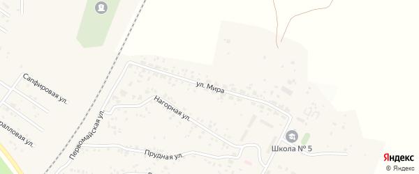 Улица Мира на карте Полевого поселка с номерами домов