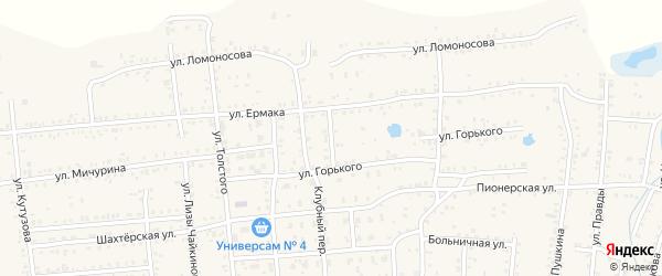 Переулок Сусанина на карте Коркино с номерами домов