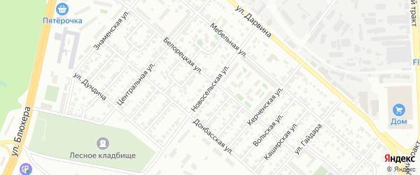 Новосельская улица на карте Челябинска с номерами домов