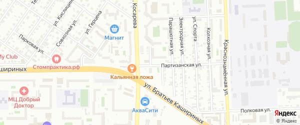 Авиационная улица на карте Челябинска с номерами домов
