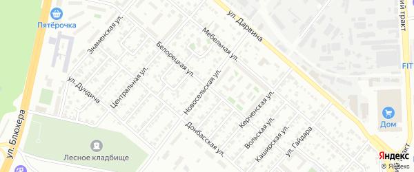 Белорецкая улица на карте Челябинска с номерами домов