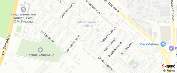 Белорецкий 1-й переулок на карте Челябинска с номерами домов
