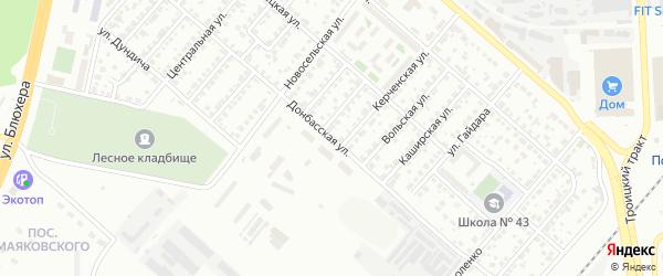 Донбасская улица на карте Челябинска с номерами домов