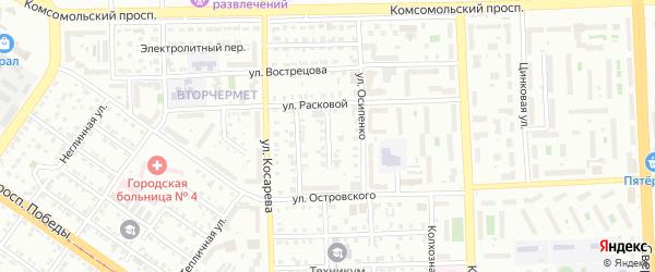 Гражданский переулок на карте Челябинска с номерами домов