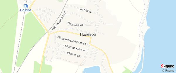 Карта Полевого поселка в Челябинской области с улицами и номерами домов