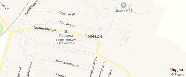 Приозерная улица на карте Полевого поселка с номерами домов