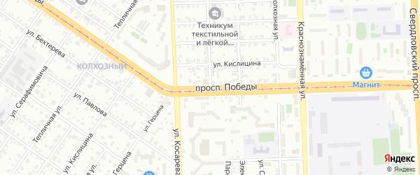 Речная улица на карте Челябинска с номерами домов