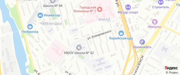 Территория ГСК 517 по ул Комаровского на карте Челябинска с номерами домов