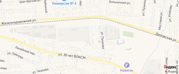 Переулок Подстанции на карте Коркино с номерами домов