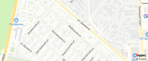 Мебельная улица на карте Челябинска с номерами домов
