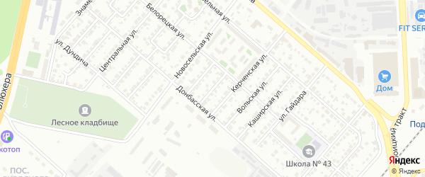 Белорецкий 2-й переулок на карте Челябинска с номерами домов