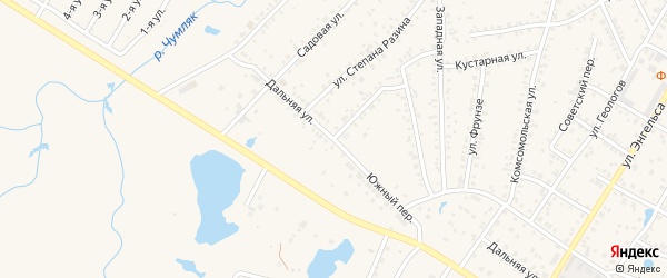 Переулок Степана Разина на карте Коркино с номерами домов