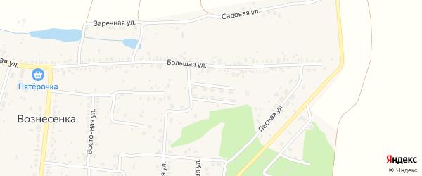 Октябрьская улица на карте села Вознесенки с номерами домов