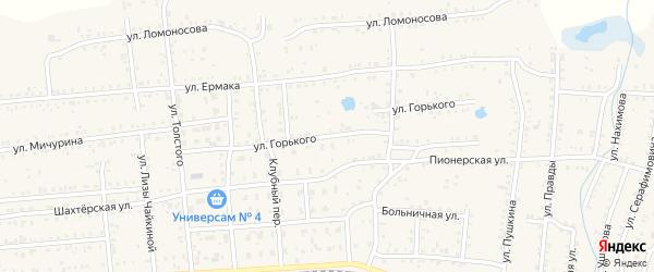 Улица М.Горького на карте Коркино с номерами домов