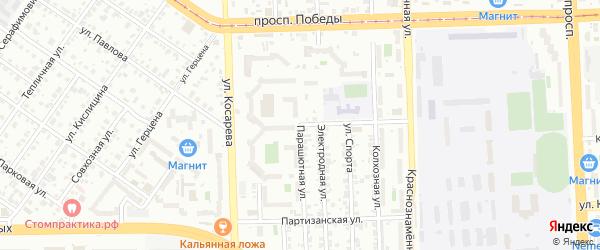 Дальневосточная улица на карте Челябинска с номерами домов