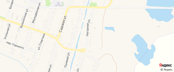 Нагорная улица на карте Еманжелинска с номерами домов
