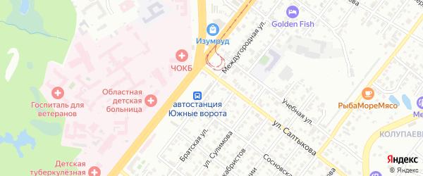 Междугородная улица на карте Челябинска с номерами домов
