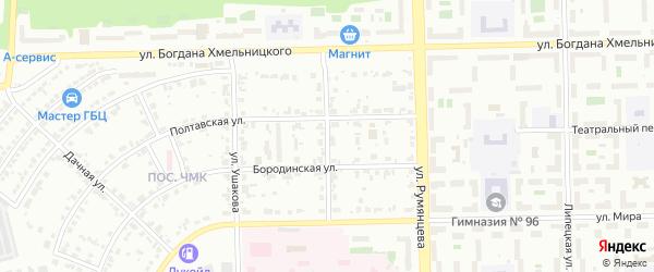 Улица Второй Пятилетки на карте Челябинска с номерами домов