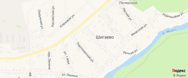 Улица 40 лет Октября на карте деревни Шигаево с номерами домов