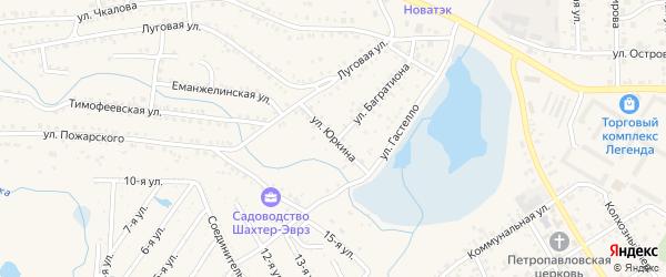 Улица Р.Юркина на карте Коркино с номерами домов
