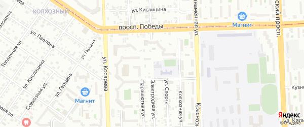 Электродная улица на карте Челябинска с номерами домов