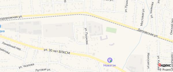 Улица Пушкова на карте Коркино с номерами домов