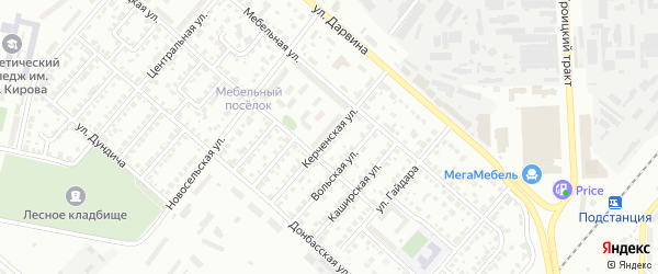 Керченская улица на карте Челябинска с номерами домов