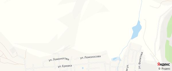 Карта поселка Саксана разъезда в Челябинской области с улицами и номерами домов