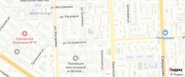 Титановая улица на карте Челябинска с номерами домов