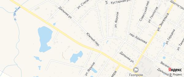 Южный переулок на карте Коркино с номерами домов