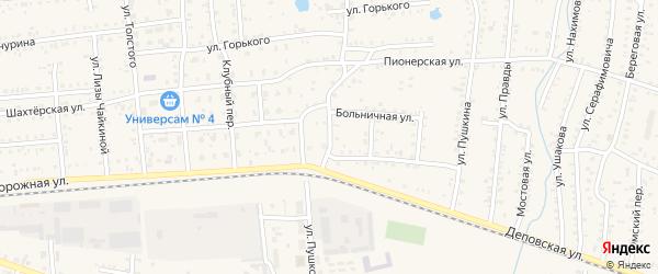 Ударный переулок на карте Коркино с номерами домов