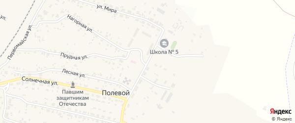 Центральная улица на карте Полевого поселка с номерами домов