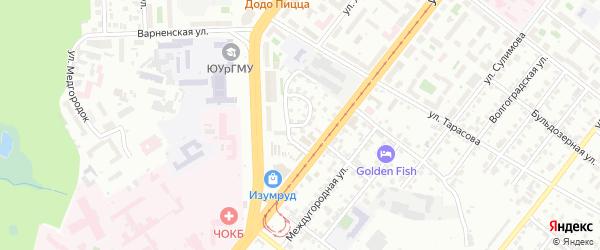 Улица Дежнева на карте Челябинска с номерами домов