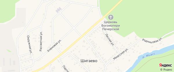Коммерческая улица на карте деревни Шигаево с номерами домов