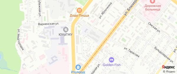Переулок Яблочкина на карте Челябинска с номерами домов