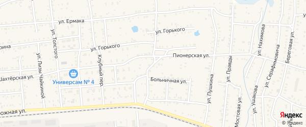 Пионерская улица на карте Коркино с номерами домов