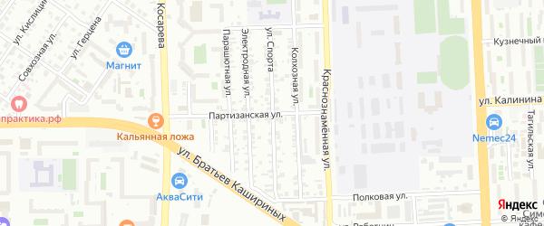 Улица Спорта на карте Челябинска с номерами домов