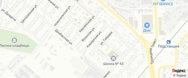 Каширская улица на карте Челябинска с номерами домов