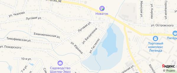 Улица Багратиона на карте Коркино с номерами домов