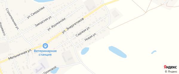 Новая улица на карте Увельского поселка с номерами домов