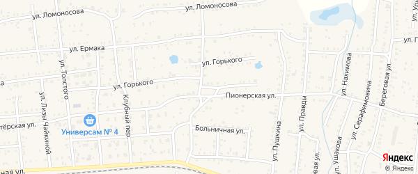Улица Лермонтова на карте Коркино с номерами домов