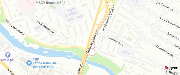 Черкасская улица на карте Челябинска с номерами домов