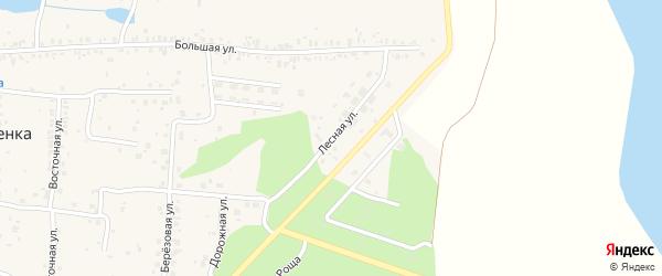 Лесная улица на карте села Вознесенки с номерами домов