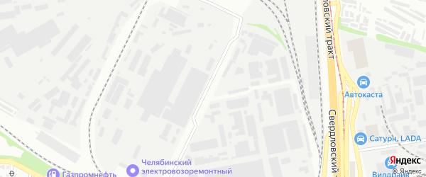 Территория ГСК 3 поселок цинкового завода на карте Челябинска с номерами домов